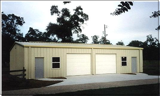 Building options steel garages and shops for Garage roofing options