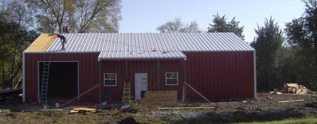 Steel Barn in Progress