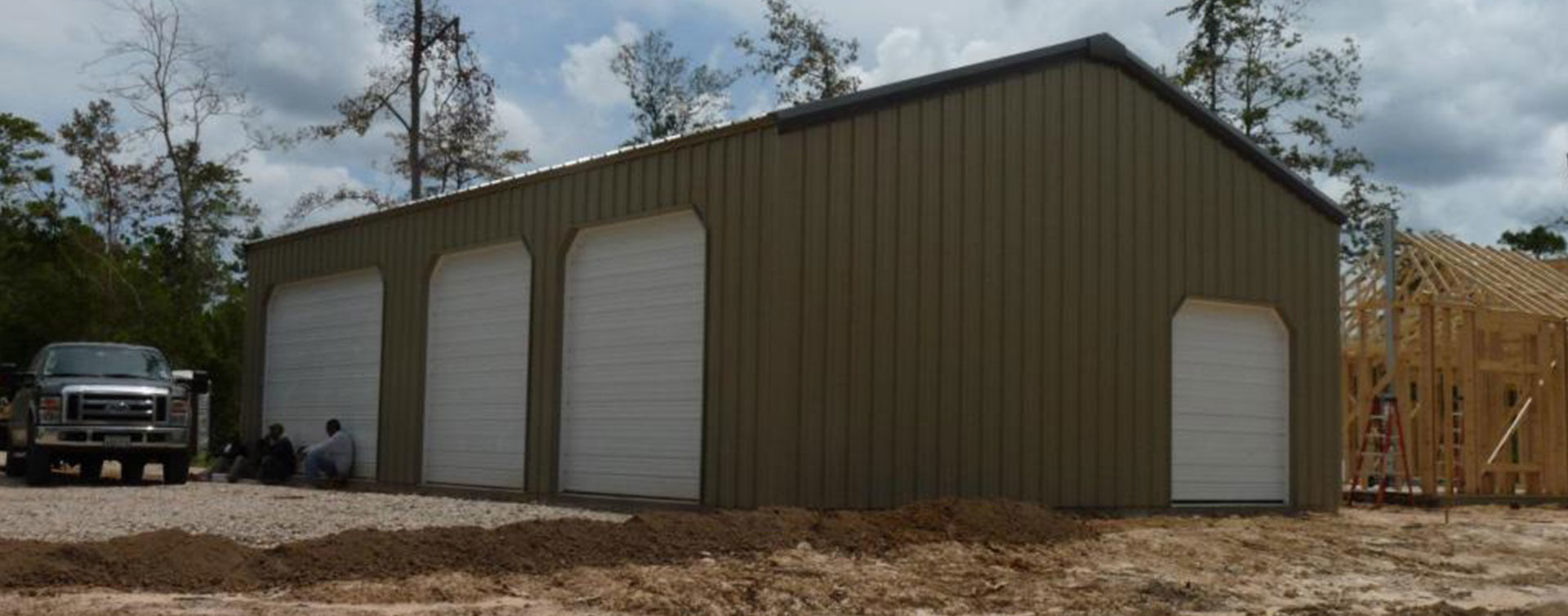 wood frame steel buildings