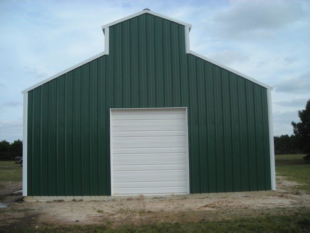 Steel Metal Buildings Green RCA -1