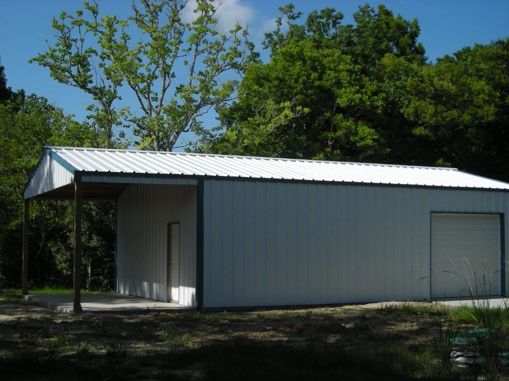 Steel Buildings Houston TX sided